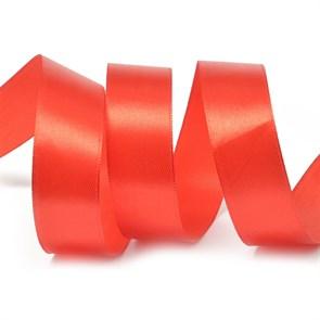 Лента атласная 1' (25мм) цв.3095 красный IDEAL уп.27,4 м