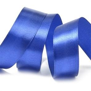Лента атласная 1' (25мм) цв.3162 синий IDEAL уп.27,4 м