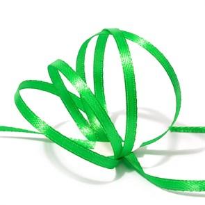 Лента атласная 1/8' (3мм) цв.3040 яр.зеленый IDEAL уп.100 м