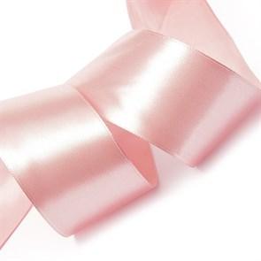 Лента атласная 2' (50мм) цв.3058 св.гр.розовый IDEAL уп.27,4 м