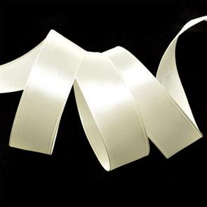 Лента атласная 1' (25мм) цв.3004 св.кремовый  IDEAL уп.27,4 м