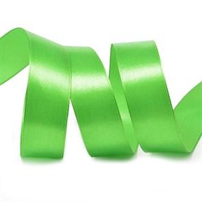 Лента атласная 1' (25мм) цв.3043 св.зеленый IDEAL уп.27,4 м