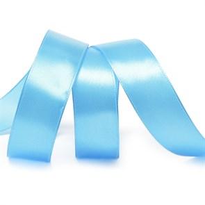 Лента атласная 1' (25мм) цв.3157 яр.голубой IDEAL уп.27,4 м