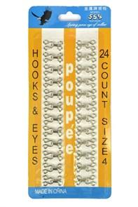 Крючки юбочные №2 арт.TBY-HIB-2.NIC цв.никель в блистере 24 шт