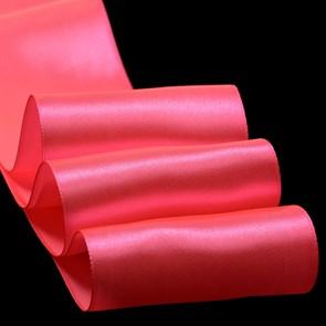 """Лента атласная 4"""" (100мм) цв.3080 яр.розовый IDEAL уп.27,4 м"""