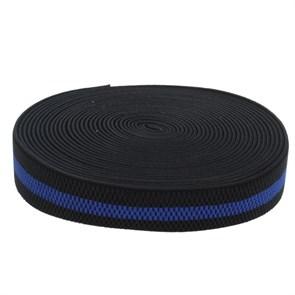 Резинка, ширина 38мм, 10±1м, цвет чёрно-синий арт.1564620