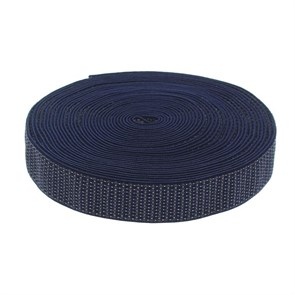 Резинка, ширина 35мм, 10±1м, цвет синий в крапинку арт.1564615