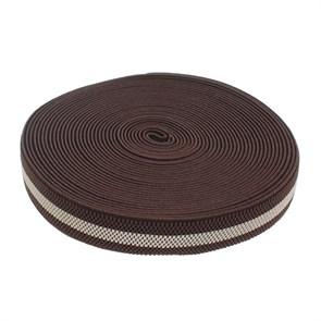 Резинка, ширина 30мм, 10±1м, цвет коричнево-бежевый арт.1564608