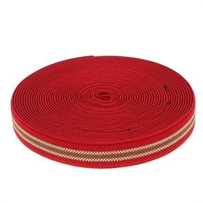 Резинка, ширина 25мм, 10±1м, цвет красно-бежево-коричневый арт.1564602