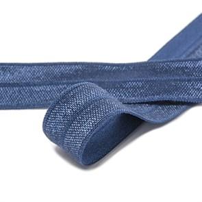 Косая бейка эластичная 15мм цв.F330 т.синий уп.50 м