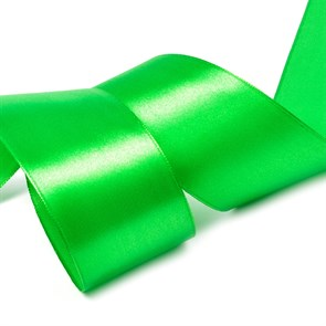 """Лента атласная 2"""" (50мм) цв.3043 св.зеленый IDEAL уп.27,4 м"""