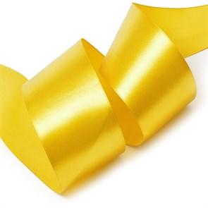 """Лента атласная 2"""" (50мм) цв.3023 т.золотой IDEAL уп.27,4 м"""