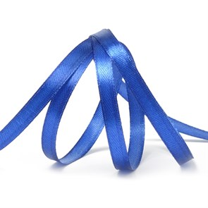 """Лента атласная 1/4"""" (6мм) цв.3162 синий IDEAL уп.27,4 м"""