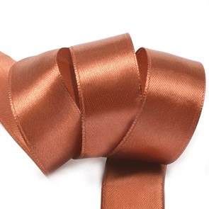 "Лента атласная 1"" (25мм) цв.3137 коричневый IDEAL уп.27,4 м"