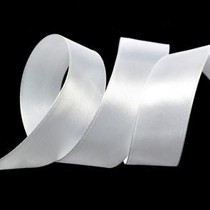 """Лента атласная 1"""" (25мм) цв.3001 белый IDEAL уп.27,4 м"""
