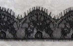 """Кружево """"реснички"""" арт.KRK-7385 шир.90мм цв.черный уп.3м"""