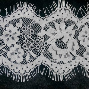 "Кружево ""реснички"" арт.KRK-T3101 шир.95мм цв.белый уп.3м"