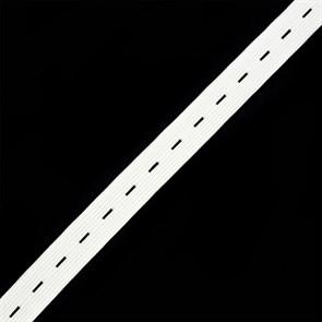Резинка TBY вязаная перфорированная шир.20мм цв.белый уп.40м