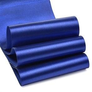 """Лента атласная 4"""" (100мм) цв.3162 синий IDEAL уп.27,4 м"""