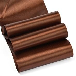 "Лента атласная 4"" (100мм) цв.3139 т.коричневый IDEAL уп.27,4 м"