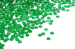 Пайетки плоские россыпью Ideal ТВY-FLK022 6мм цв.04 зеленый уп.50гр