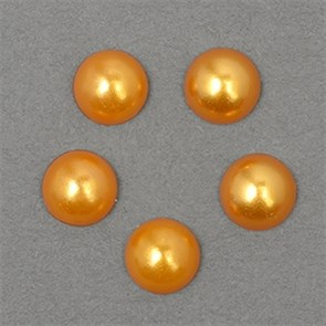 Полужемчужины MAGIC 4 HOBBY перламутр 8 мм цв.H50 (оранжевый) уп.20г