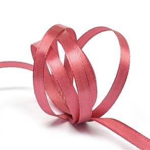 """Лента атласная 1/4"""" (6мм) цв.4174 IDEAL красно-розовый уп.27,4 м"""
