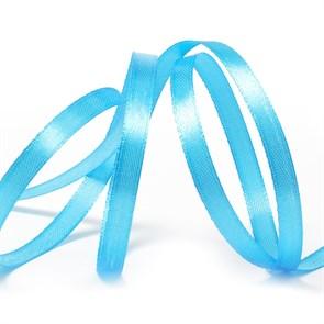 """Лента атласная 1/4"""" (6мм) цв.3157 яр.голубой IDEAL уп.27,4 м"""