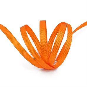 Лента Ideal репсовая в рубчик шир.6мм цв. 668 (053) оранжевый уп.27,42м