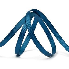 Лента Ideal репсовая в рубчик шир.6мм цв. 365 (174) морской синий уп.27,42м