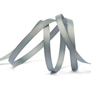 Лента Ideal репсовая в рубчик шир.6мм цв. 012 (096) серый уп.27,42м