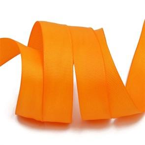 Лента Ideal репсовая в рубчик шир.25мм цв. 668 (053) оранжевый уп.27,42м