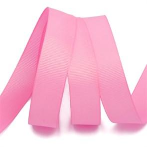 Лента Ideal репсовая в рубчик шир.25мм цв. 155 (5029) ярк.розовый уп.27,42м