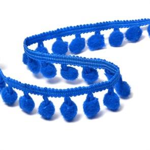Тесьма с помпонами цв.F340 (040) синий арт.TBY-LC-20 шир.15-20мм