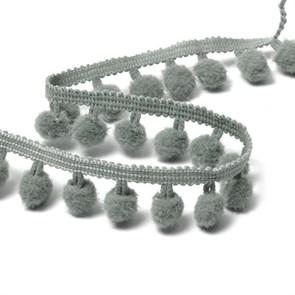 Тесьма с помпонами цв.F316 (030) серый арт.TBY-ТP-20 шир.15-20мм уп.10м