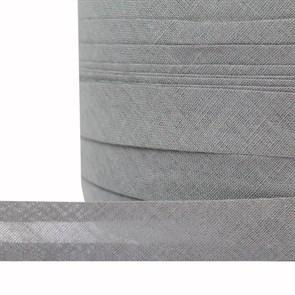 Косая бейка хлопок TBY арт.CB15 шир.15мм цв.F316 серый уп.132 м