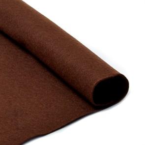 Фетр в рулоне мягкий IDEAL 1мм 100см арт.FLT-S2 цв.687 коричневый (отрез 1 метр)