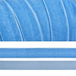 Лента бархатная арт.TBY.LB2083 нейлон шир.20мм цв.голубой уп.20м