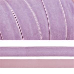 Лента бархатная арт.TBY.LB2073 нейлон шир.20мм цв.сиреневый уп.20м