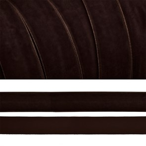 Лента бархатная арт.TBY.LB2072 нейлон шир.20мм цв.коричневый уп.20м