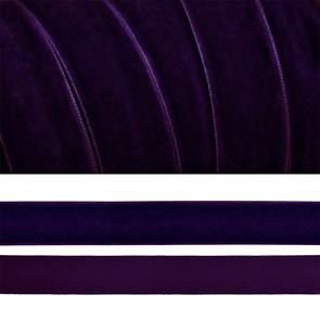 Лента бархатная арт.TBY.LB2059 нейлон шир.20мм цв.т.фиолетовый уп.20м