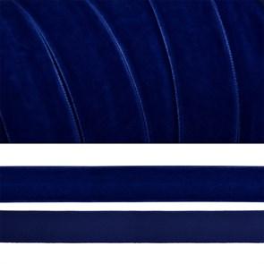 Лента бархатная арт.TBY.LB2052 нейлон шир.20мм цв.т.синий уп.20м