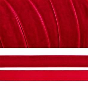 Лента бархатная арт.TBY.LB2042 нейлон шир.20мм цв.т.красный уп.20м