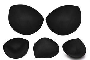 Чашечки корсетные TBY-11.03 с эффектом push-up р.one size цв. черный (пара)