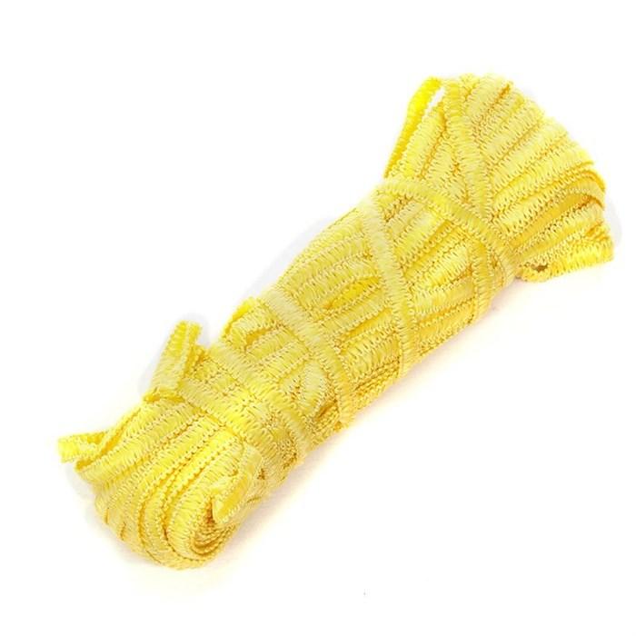 Тесьма вязаная отделочная 'Змейка' арт.с3702г17 шир.7мм рис.9166 цв.02 желтый - фото 159781