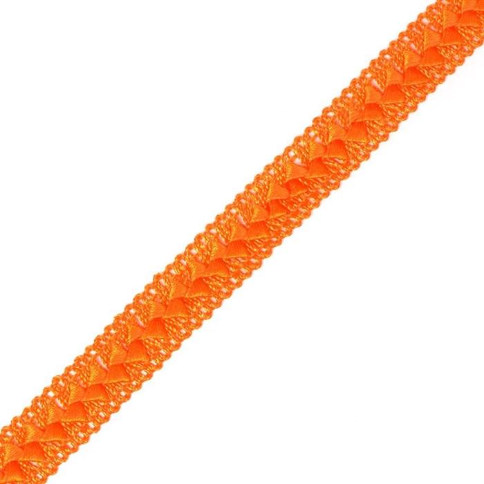 Тесьма самоса арт.ШМ.04-А шир.20мм цв. т.оранжевый  А - фото 161099