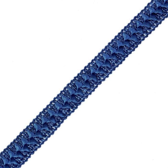 Тесьма самоса арт.ШМ.27-А шир.20мм цв.синий  А - фото 164409