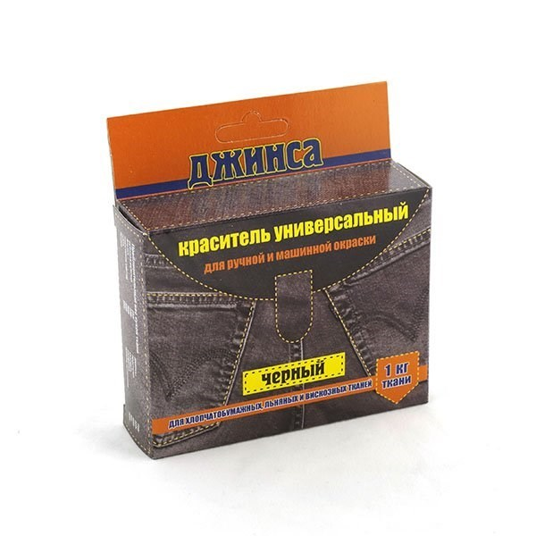 Краситель для ткани ДЖИНСА NEW цв. черный уп. 20г - фото 165585