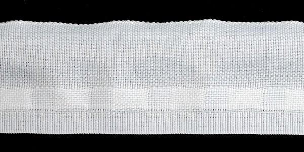 Лента шторная ТР  арт.40.ПЕТЛ  шир.40мм   без сборки с петлями - фото 167219