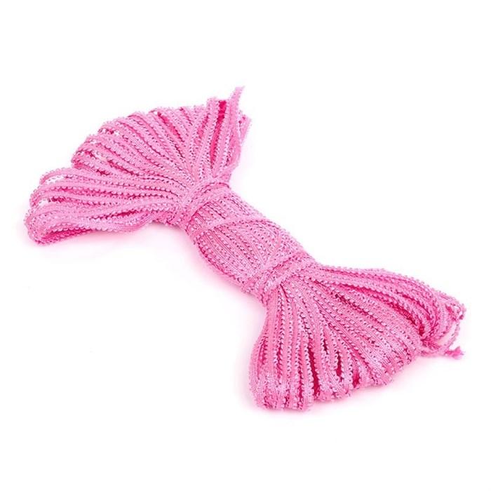 Шнур отделочный 'Сороконожка' арт.с3601г17 шир.6мм (3мм) рис.8574 цв.15 розовый - фото 169167